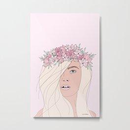 Pink Fairy Portrait Metal Print
