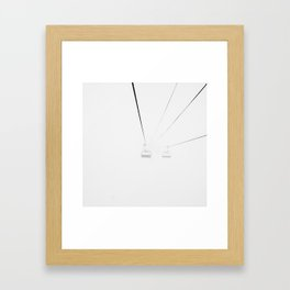 Whiteout Chair Lift Framed Art Print