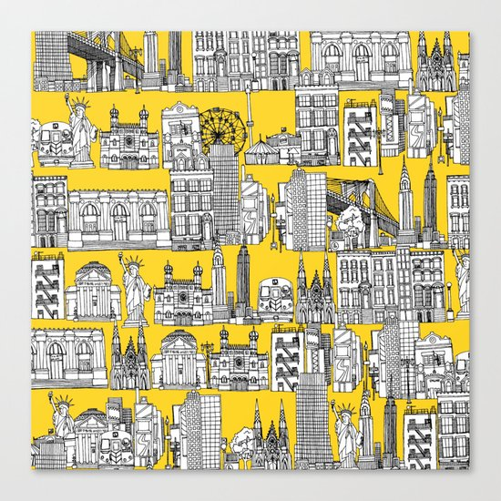 New York yellow Canvas Print