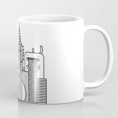 Monster Invasion Black & White Mug