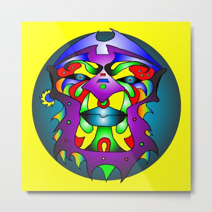 Ashanti - Yellow Metal Print