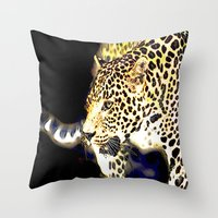 hunting Throw Pillows featuring Hunting by arnedayan