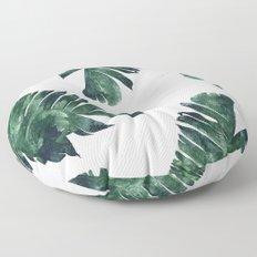 Banana Leaf Watercolor Pattern #society6 Floor Pillow