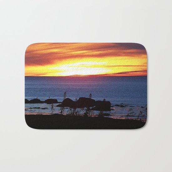 Sunset Swirling Clouds Bath Mat