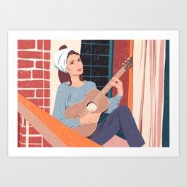 Moon River - The balcony song Art Print