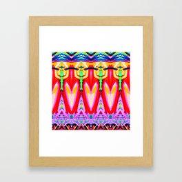 Ornamental Abstract Pattern Framed Art Print