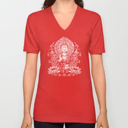 Siddhartha Gautama Buddha Monotone Unisex V-Neck