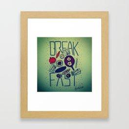 Breakfast is important Framed Art Print