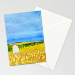 There's a Ghost in the Wheat Field Stationery Cards