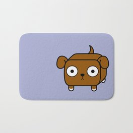 Pitbull Loaf - Red Brown Pit Bull with Floppy Ears Bath Mat