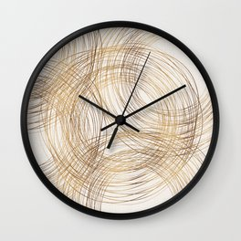 Metallic Circle Pattern Wall Clock