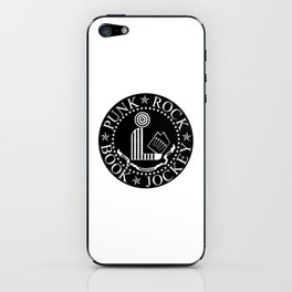 Punk Rock Book Jockey Black Logo iPhone Skin