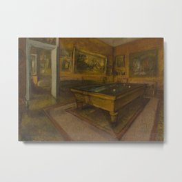 Billiard Room at Ménil-Hubert Metal Print