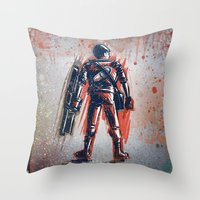 akira Throw Pillows featuring Akira by Joe Badon