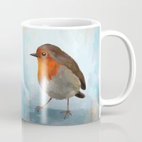 robin Mugs featuring Robin by Freeminds