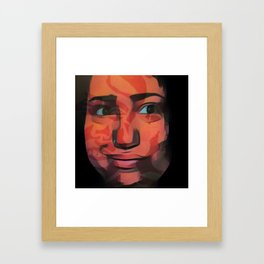 Smile camouflages the scars Framed Art Print