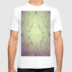 Map MEDIUM White Mens Fitted Tee