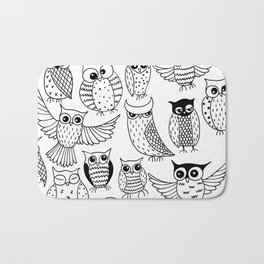 Funny owls Bath Mat