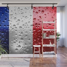 Flag of France - Raindrops Wall Mural
