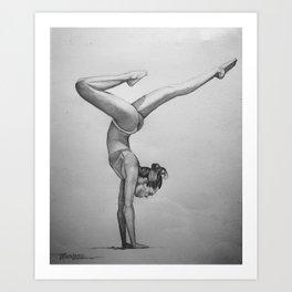 yoga pose Art Print