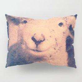 Innocence (Smiling White Baby Sheep) Pillow Sham