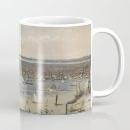 Vintage Pictorial Map of New York City (1848) Coffee Mug