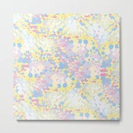 Yellow Blue Pink Metal Print