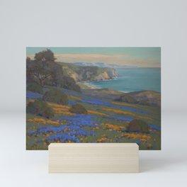 Spring Flowers, Poppies and Lupine, Goleta Point by John Marshall Gamble Mini Art Print