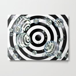 Bubble Target Metal Print