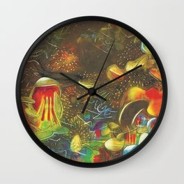 Ocean's Edge - The End of a Dream landscape by R. Matta Wall Clock