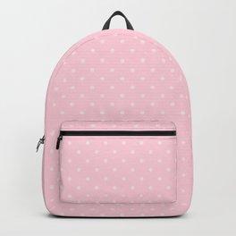 Light Soft Pastel Pink Mini Polka Dot Hearts Backpack