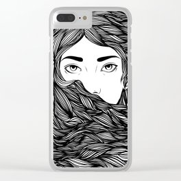 Flowing hair Clear iPhone Case