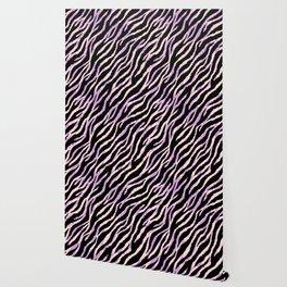 Pastel zebra fur texture II Wallpaper
