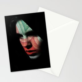 Portrait divisionism Stationery Cards