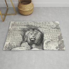 Vintage Lion etching Rug