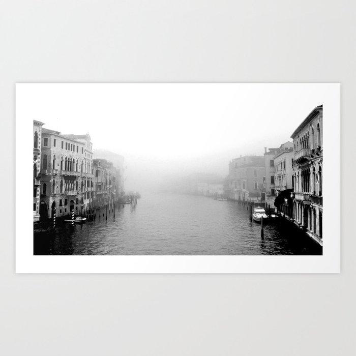 Fog in Venice Art Print