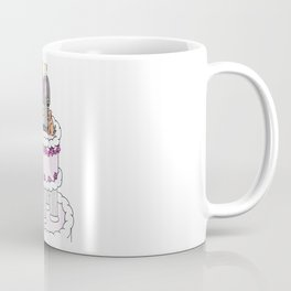 Two grooms and a dog on a wedding cake. Coffee Mug