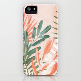 Tropical Leaves 4 iPhone Case