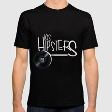 los hipsters del barrio Black Mens Fitted Tee MEDIUM
