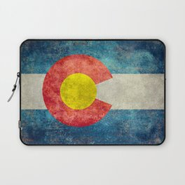 Colorado State flag - Vintage retro style Laptop Sleeve