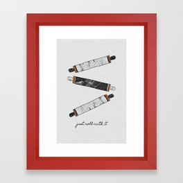 Just Roll With It, Kitchen Prints Framed Art Print