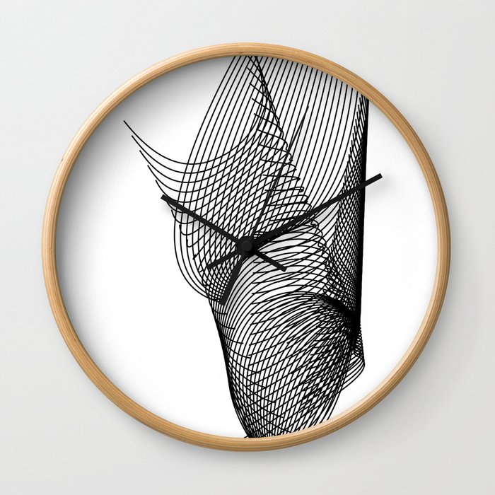 """""""Script Collection"""" - Minimal Letter Y Print Wall Clock"""