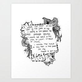 Namaste Doodle Art Print
