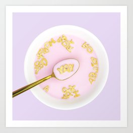 Yay Breakfast! Art Print