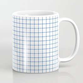 Dotted Grid Red and Blue Coffee Mug
