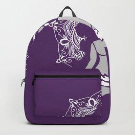 Buddha Meditation Mandala - violet Backpack