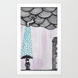 A Drop Of Rain Art Print