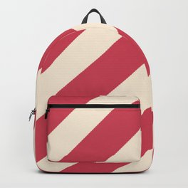 Antique White and Brick Red Stripes Backpack