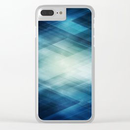 Amazing Abstract Triangular Galaxy - Visual Art V.6 Clear iPhone Case