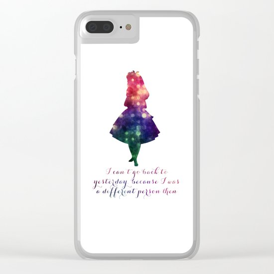 Alice can't go back to yesterday Clear iPhone Case